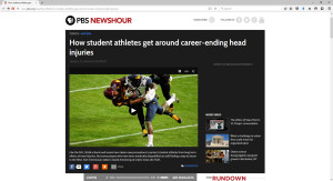 PBS NewsHour on concussions